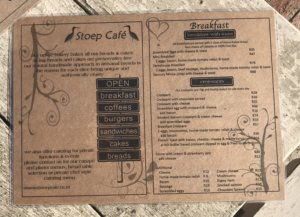Stoep Cafe Menu 1