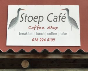 Stoep Cafe Sign