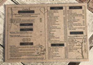 Stoep Cafe menu 2