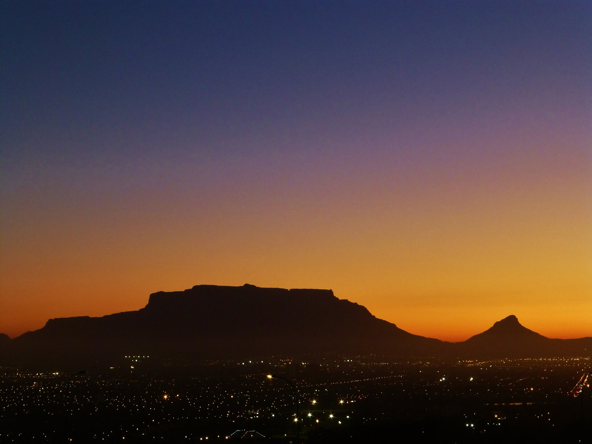 Our Beloved Mountain against the Sunset!