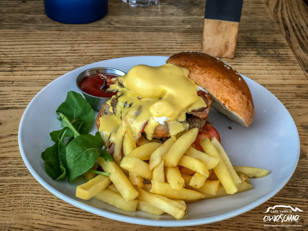 I had the Bacon and Cheese Burger at Knead Bakery and it was a great burger Drenched in Awesome Cheese Sauce