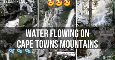 Hiking Trails and Beautiful Waterfalls Flowing Down Table Mountain